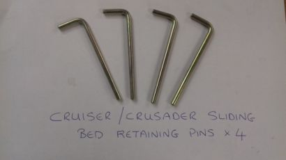 Crusader / Cruiser Sliding Bed Retaining Pins
