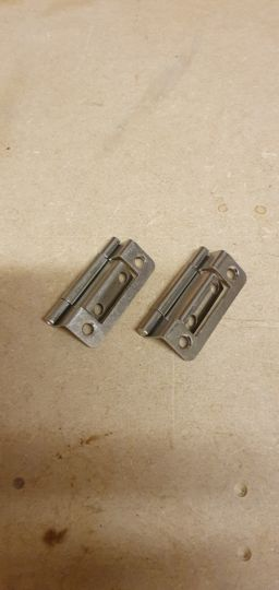 Cranked Hinges Bathroom / cupboard PAIR