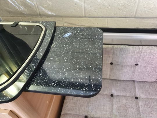 Table Small Sink Black Lift up Incl brackets and Fixings